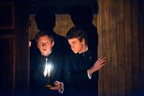 Photograph from The Infamous Brothers Davenport - lighting design by Simon Wilkinson