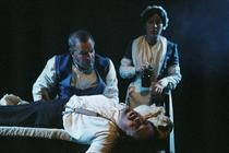 Photograph from .......Poe - lighting design by Brendan Albrey