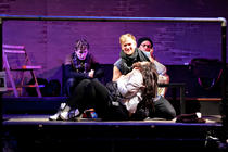 Photograph from Rent - lighting design by Steve Lowe