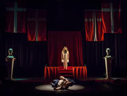 Photograph from Hamlet - lighting design by Steve Lowe