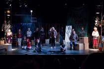 Photograph from The Beggar's Opera - lighting design by Catherine Webb