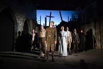 Photograph from Birdsong - lighting design by Alex Wardle