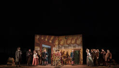 Photograph from La Cenerentola - lighting design by Matthew Haskins