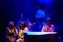 Photograph from ABBA Reunion - lighting design by Pete Watts