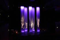 Photograph from Svatantrya - lighting design by Marty Langthorne