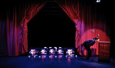 Photograph from Rat Rose Bird - lighting design by Marty Langthorne
