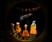 Photograph from The Adventures of Curious Ganz - lighting design by Marty Langthorne