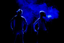 Photograph from H The One and a Half Woman Show - lighting design by Marty Langthorne