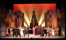 Photograph from Thoroughly Modern Millie - lighting design by Jason Salvin