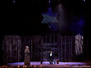 Photograph from Fiddler on the Roof - lighting design by Jason Salvin