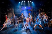 Photograph from Hoods the Musical - lighting design by Adam King