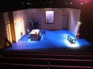 Photograph from Death of an Anarchist - lighting design by Chris Barham