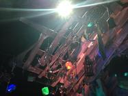 Photograph from Skitterbang Island 2014 - lighting design by Chris Barham