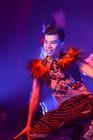 Photograph from The Ladyboys of Bangkok - Red Hot Kisses - lighting design by Matt Ladkin