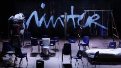 Photograph from Spring Awakening - lighting design by Malcolm Rippeth