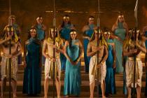 Photograph from Aida - lighting design by Charlie Morgan Jones