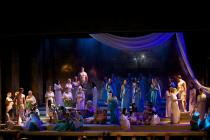 Photograph from Aida - lighting design by Charlie Morgan Jones