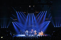 Photograph from The Bootleg Beatles - lighting design by Brendan Albrey