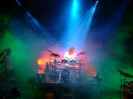 Photograph from Swindon Drum day - lighting design by Pete Watts