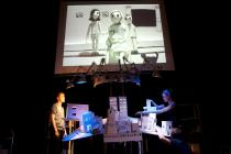 Photograph from Feral - lighting design by Simon Wilkinson