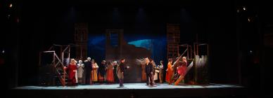 Photograph from Sweeney Todd - lighting design by Eric Lund