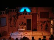 Photograph from Up Pompeii - lighting design by Jason Addison