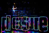 Photograph from Pleasure - lighting design by Malcolm Rippeth
