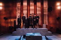 Photograph from The Patriot Game - lighting design by James McFetridge