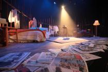 Photograph from Look Back In Anger - lighting design by Jason Addison