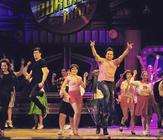 Photograph from Grease the Musical - lighting design by Chris Gatt