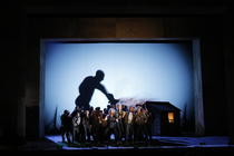 Photograph from Paul Bunyan - lighting design by Peter Harrison
