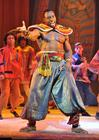 Photograph from Aladdin - lighting design by Peter Harrison