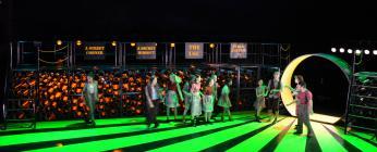 Photograph from Urinetown - lighting design by Manuel Garrido Freire