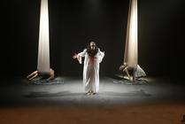 Photograph from Agamemnon - lighting design by Chris Gatt