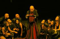 Photograph from Agamemnon - lighting design by Chris Gatt