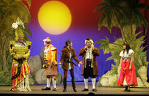 Photograph from The Pirates of the Mediterranean- Pantomime - lighting design by Chris Gatt