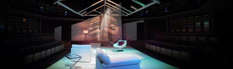 Photograph from Old Times - lighting design by Chris Gatt