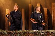 Photograph from There Is A War - lighting design by Charlie Morgan Jones