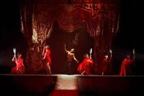 Photograph from The Bacchae - lighting design by Chris Gatt