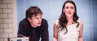 Photograph from Stitched Up - lighting design by James McFetridge