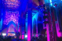 Photograph from Holy Trinity Regeneration - lighting design by grahamrobertslx