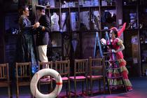 Photograph from Oh My, Nellie Bly - lighting design by George Bach