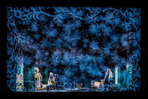 Photograph from The Snow Maiden - lighting design by Matthew Haskins