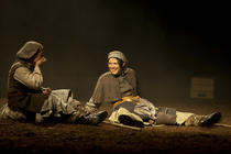 Photograph from Bondagers - lighting design by Simon Wilkinson