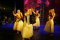 Photograph from The Bacchae - lighting design by Malcolm Rippeth