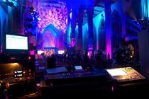 Photograph from Holy Trinity Regeneration - lighting design by grahamrobertslx
