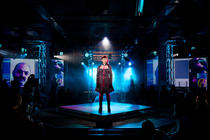Photograph from You Have Been Upgraded - lighting design by Katharine Williams