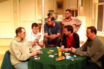 Photograph from The Odd Couple - lighting design by Simon Wilkinson