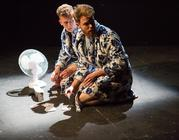 Photograph from Egg Nemesis - lighting design by jordantinniswood