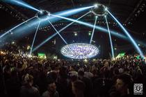 Photograph from Untold Festival - Galaxy Stage - lighting design by alinpopa